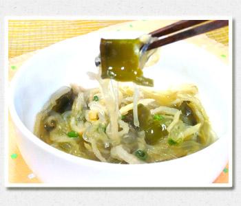 芽かぶの春雨スープ