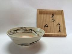 京焼鮎絵平茶碗