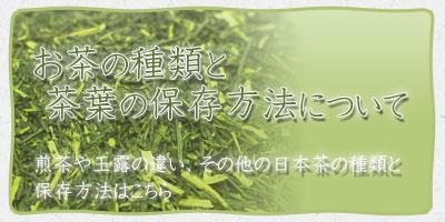 お茶の種類と保存方法について
