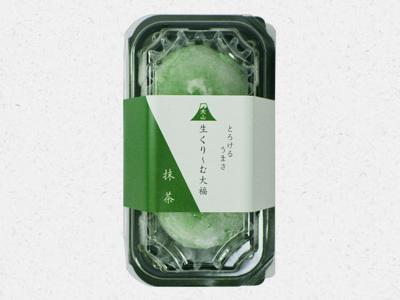 大山生くり~む大福抹茶パッケージ