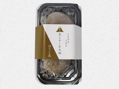 大山生くり~む大福ほうじ茶パッケージ