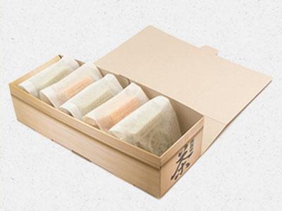 茶箱もなか5個入パッケージ
