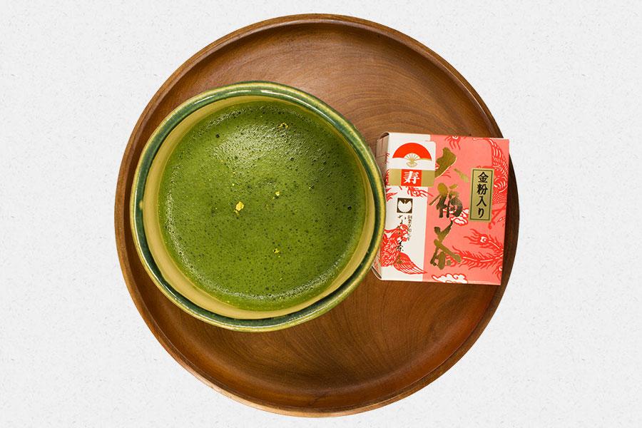 金粉入り大福茶