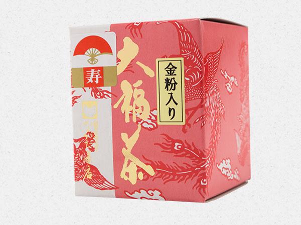金粉入り大福茶パッケージ