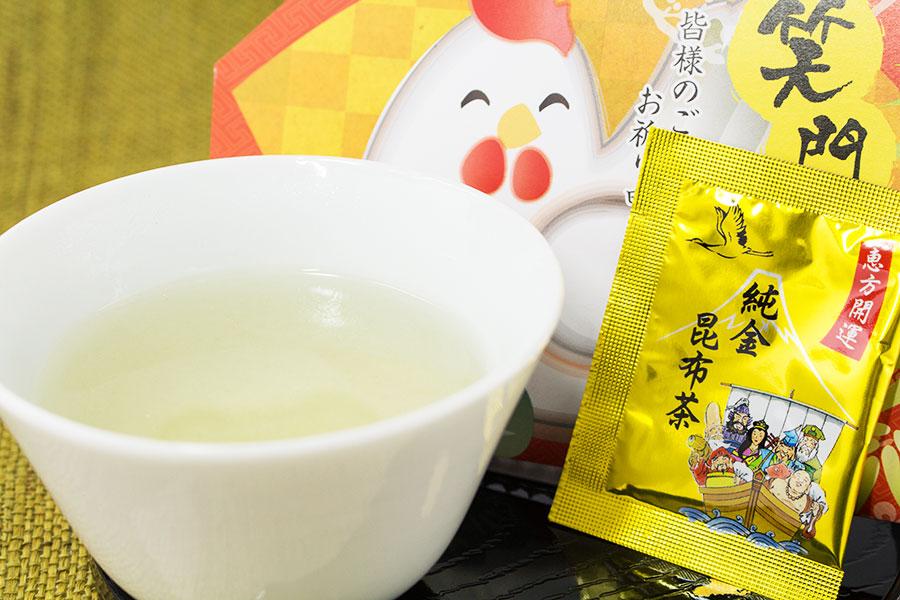 笑門来福_純金昆布茶_お茶イメージ