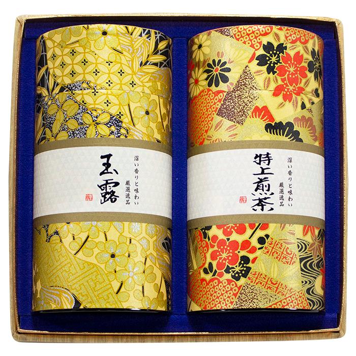 厳選逸品詰合せ・赤(玉露、特上煎茶セット)AI-100
